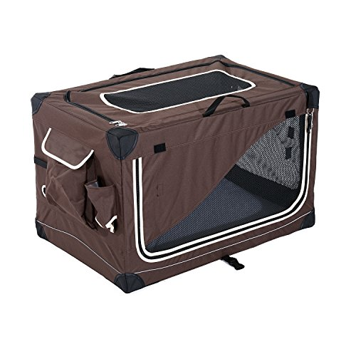 pawhut faltbare hundebox transportbox hundetransportbox hundetasche katzenbox hunde box l76xw50. Black Bedroom Furniture Sets. Home Design Ideas